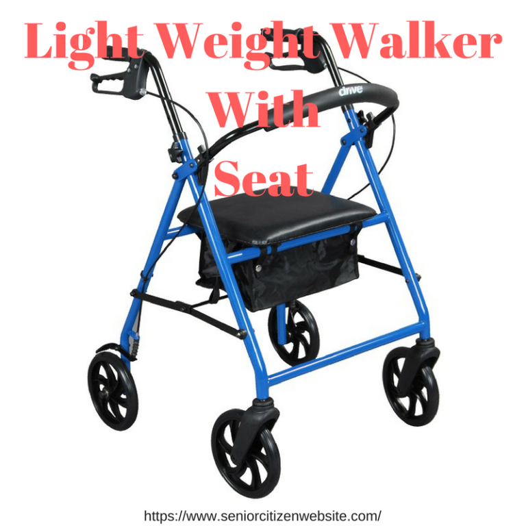Light Weight Walker With Seat