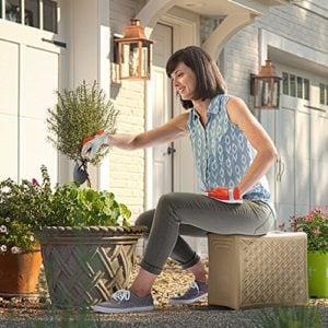 3 level; garden seat