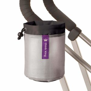 Thin king cup holder with Velcro straps