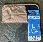 handicapped card holder